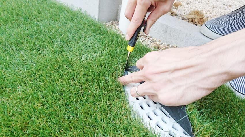 人工芝のDIY